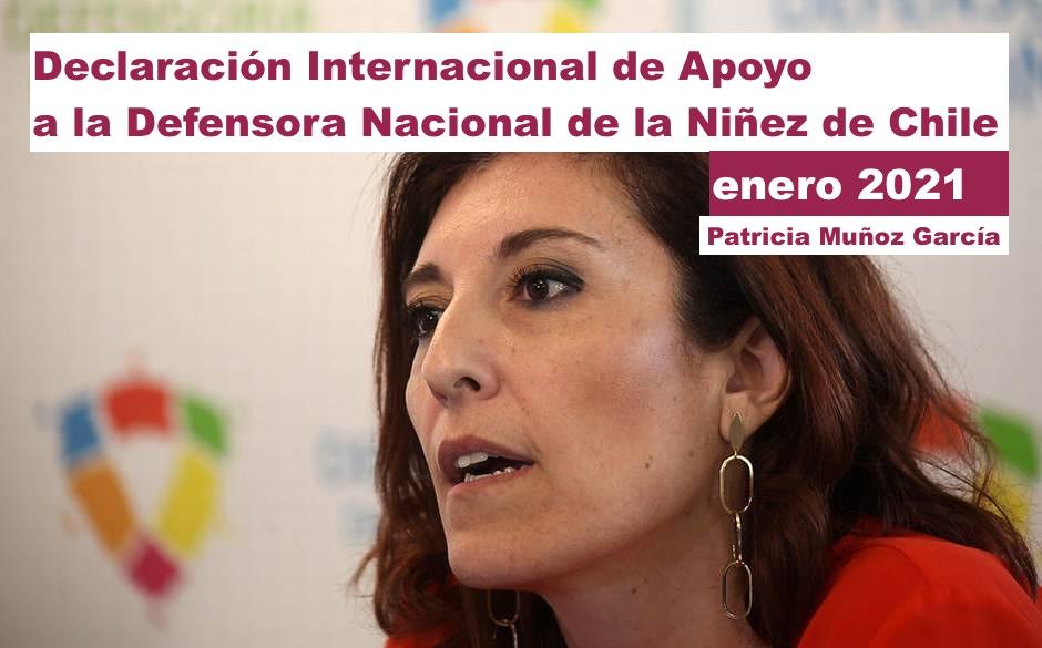 Declaración Internacional de Apoyo a Defensora de la Niñez de Chile
